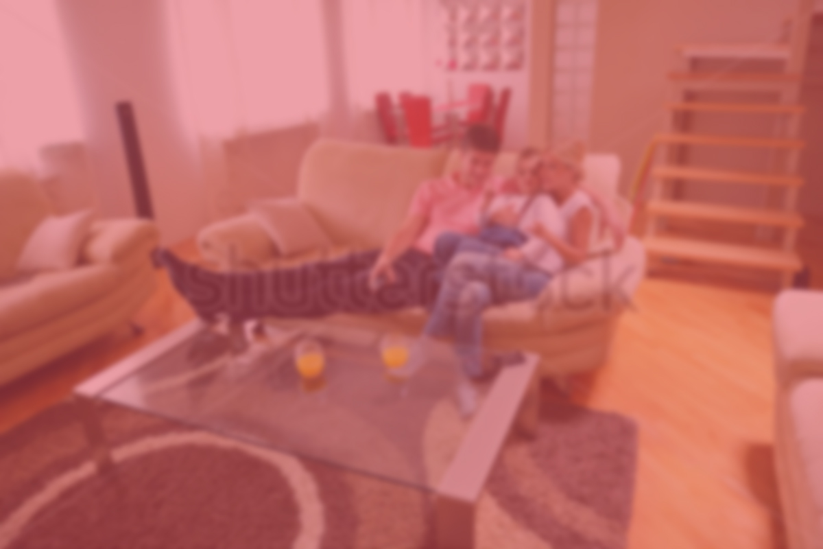 Cart & stock-photo-happy-young-family-with-kids-in-bright-modern-living ...