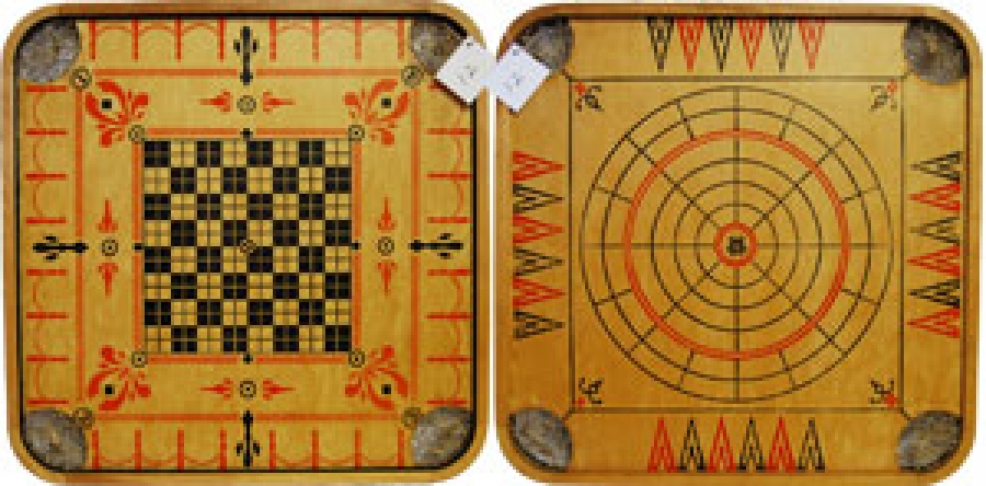 "12 - CARROM CHECKERS ""GP"""