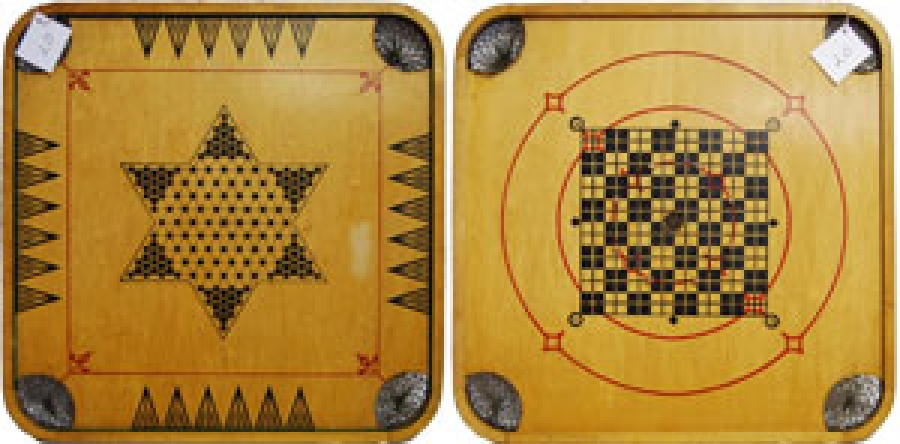 "20 - CARROM CHECKERS CROKINOLE ""MWI"""