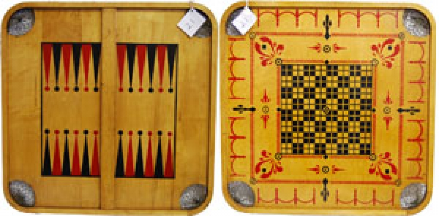 "21 - CARROM BACKGAMMON ""O"""