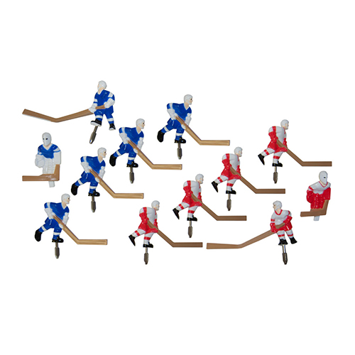 numbered stick hockey players