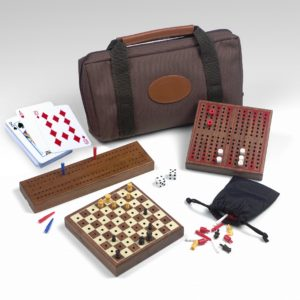 Travel Multi Game Set - Chess - Checkers - Backgammon - Cribbage