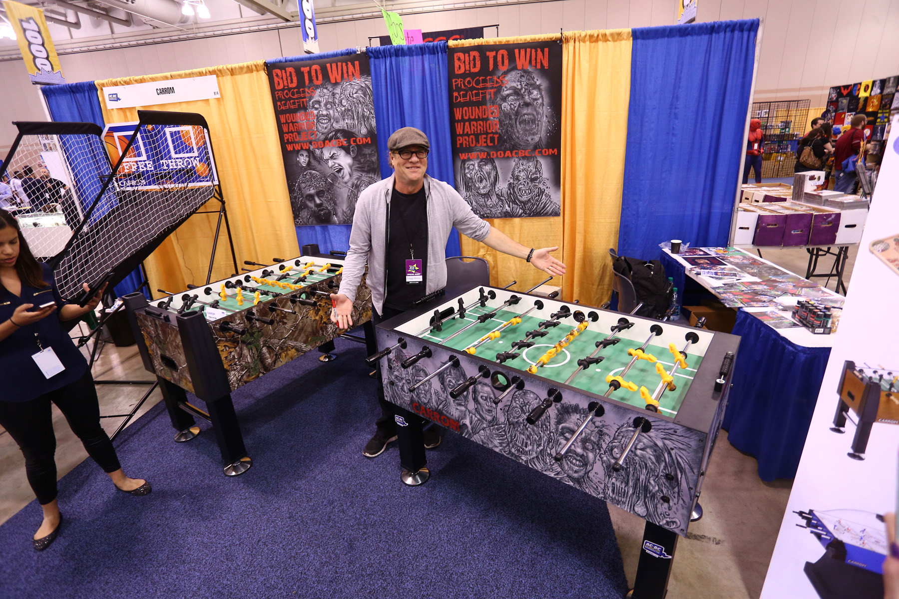 Actor Gregg Henry From U201cGuardians Of The Galaxyu201d Poses By The Zombie Foosball  Table. U201c