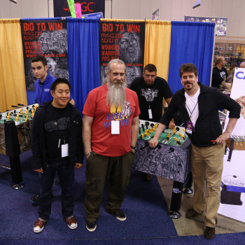 "The ""Comic Book Men"" lend their John Hancocks to the foosball table for Wounded Warrior Project."