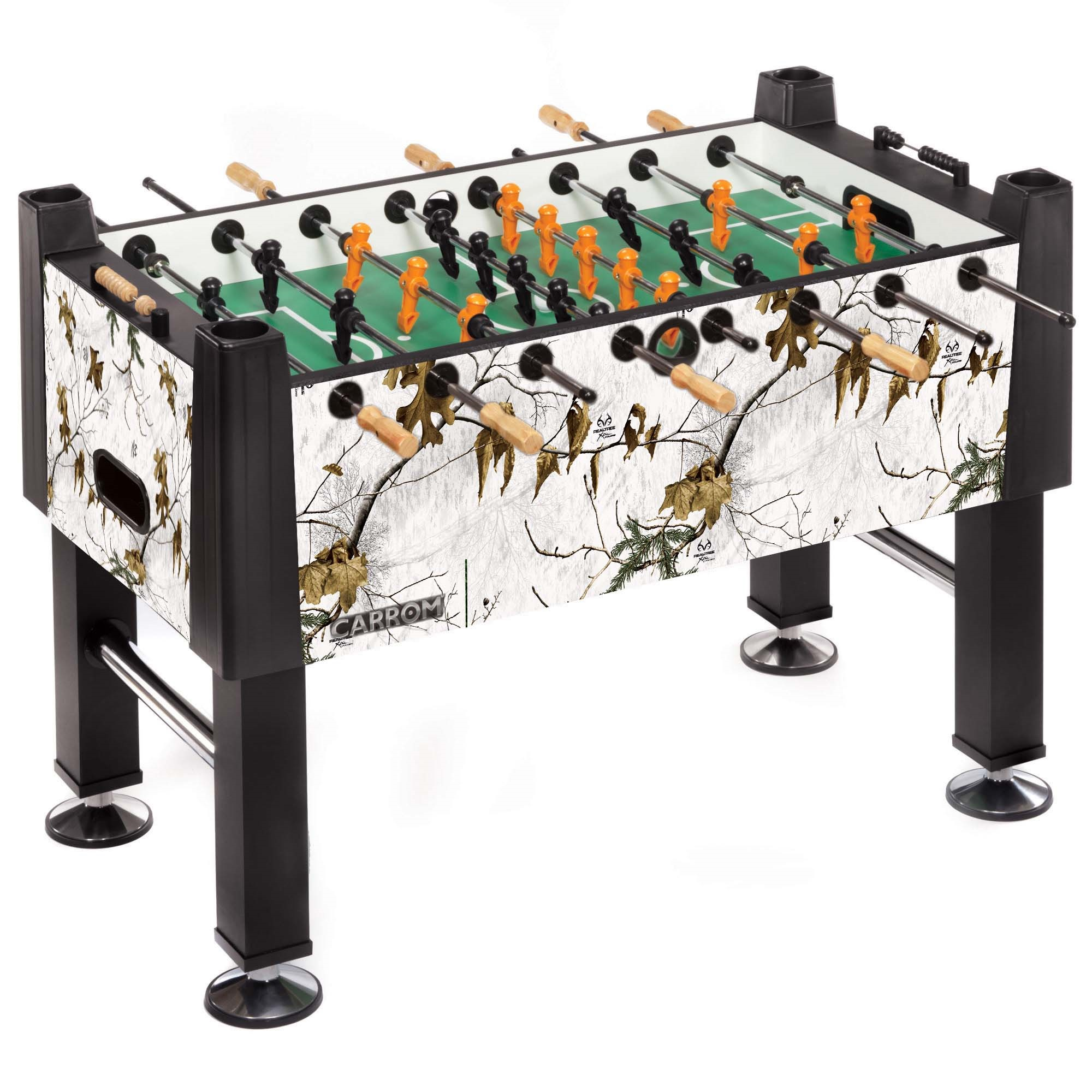 REALTREE Snow Signature Foosball Table - Carrom Company