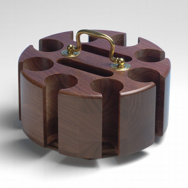 Walnut Poker Chip Rack - 200 Capacity - Drueke by Carrom
