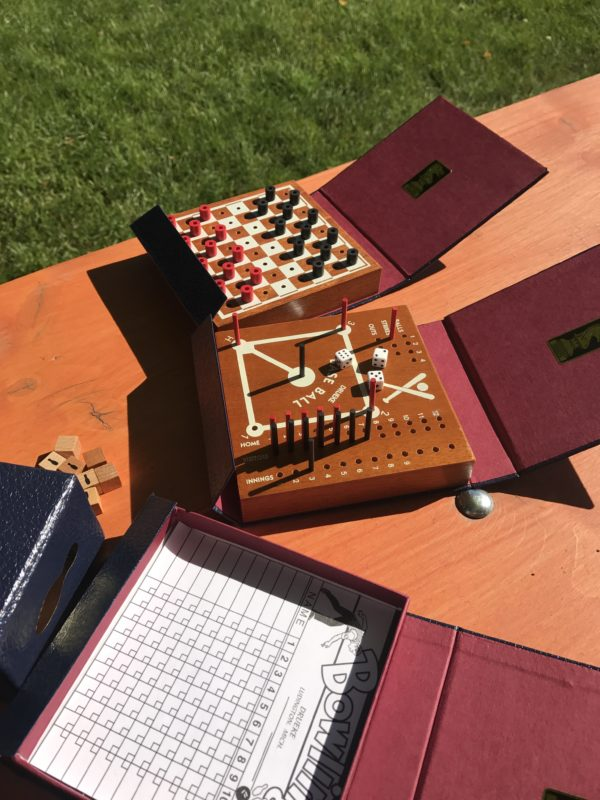 Library Game: Baseball, Bowling and Checkers