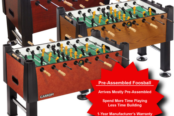 Pre-Assembled Foosball Tables - Carrom Company
