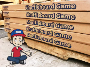 Shuffleboard Game - Mikey in the Factory - Ludington - Carrom Company
