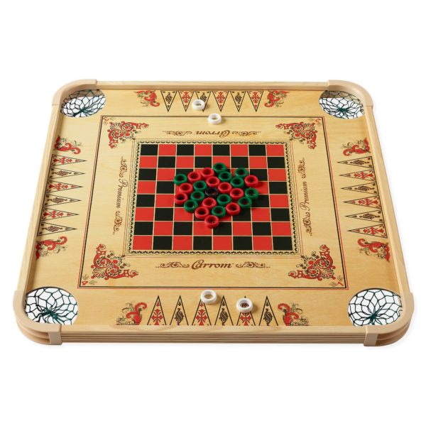 Carroms on Carrom Game Board