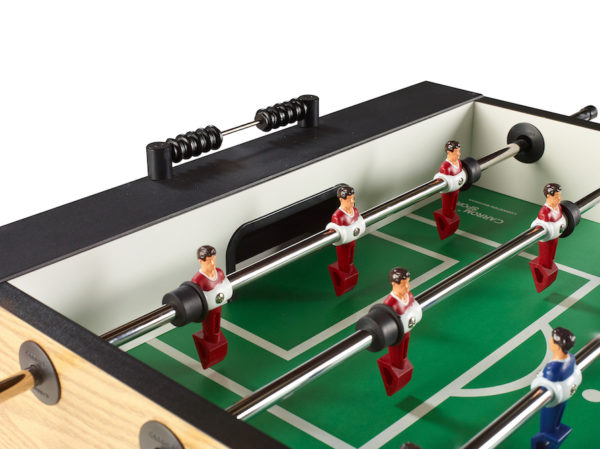 Carrom Foosball three goalie setup